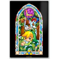 Póster Chromaluxe Metal Brillante Nintendo  The Legend of Zelda Boomerang