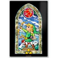 Póster Chromaluxe Metal Brillante Nintendo  The Legend of Zelda Arco y Flecha