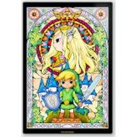Póster Chromaluxe Metal Brillante Nintendo  The Legend of Zelda Link y Zelda