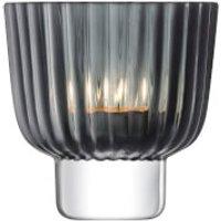 LSA Pleat Tealight Holder - 9.5cm - Grey