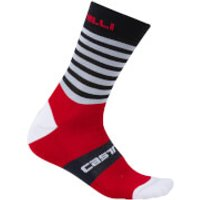 Castelli Gregge 15 Socks - Royal/Red - L-XL - Blue/Red