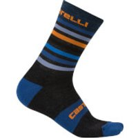 Castelli Gregge 15 Socks - Anthracite/Orange - L-XL - Black/Orange