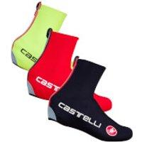 Castelli Diluvio C Shoe Covers 16 - Black - S-M - Red