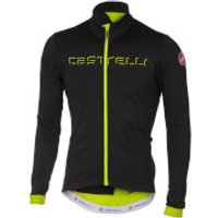 Castelli Velocissimo 2 Long Sleeve Jersey - Light Black/Yellow Fluo - S - Black/Yellow