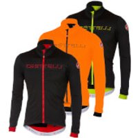 Castelli Fondo Jersey - L - Dark Steel Blue/Orange