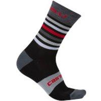 Castelli Gregge 15 Socks - Black/Red - L-XL - Black/Red