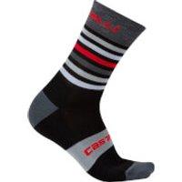 Castelli Gregge 15 Socks - L-XL - Black/Red