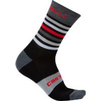 Castelli Gregge 15 Socks - XXL - Black/Red