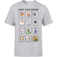 Nintendo Know Your Enemy Mens Grey T-Shirt - M - Grey