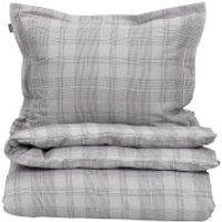 GANT Home Flannel Check Duvet Cover - Grey - King - Grey
