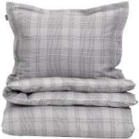 GANT Home Flannel Check Duvet Cover - Grey - Double - Grey