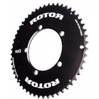 Rotor NoQ Aero Outer Chainring 5 Bolt - 52T - 110BCD - Black