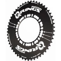Rotor Q Aero Outer Chainring 5 Bolt - 50T - 110BCD - Black