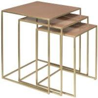Broste Copenhagen Freja Set of Tables - Brass/Rose