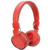 AV: Link Wireless Bluetooth On-Ear Noise Cancelling Headphones (With Built-in FM Radio) - Red - Headphones Gifts