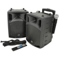QTX PAV8-UHF Portable Bluetooth PA System Set with 2x UHF Mics