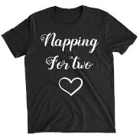 Napping for Two Black T-Shirt - XXL - Black