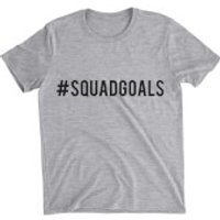Squad Goals Grey T-Shirt - XXL - Grey