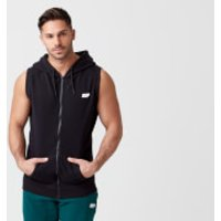 Tru-Fit Sleeveless Hoodie - M - Black