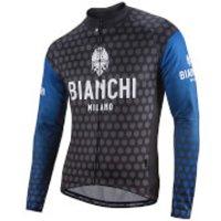 Bianchi Petroso Long Sleeve Jersey - Black/Blue - S - Black/Blue