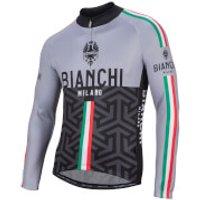 Bianchi Montalto Long Sleeve Jersey - Black/Grey - S - Black/Grey