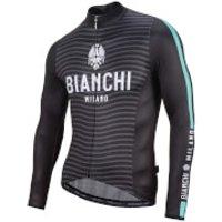 Bianchi Cei Long Sleeve Jersey - Black/Celeste - L - Black/Celeste