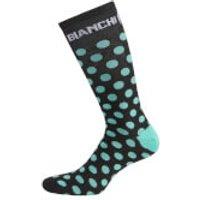 Bianchi Penice Socks - Black/Celeste Dots - L-XL - Black/Celeste