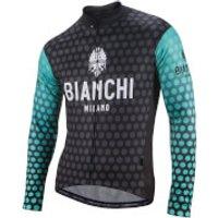 Bianchi Petroso Long Sleeve Jersey - Black/Celeste - L - Black/Celeste