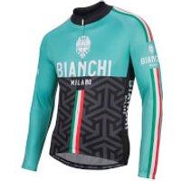 Bianchi Montalto Long Sleeve Jersey - Black/Celeste - S - Black/Celeste