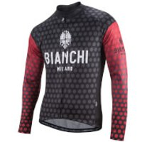 Bianchi Petroso Long Sleeve Jersey - Black/Red - M - Black/Red