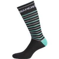Bianchi Penice Socks - Black/Celeste Stripe - S-M - Black/Celeste