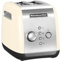 KitchenAid 5KMT221BAC 2 Slot Toaster - Almond Cream