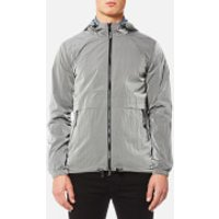 Marshall Artist Mens Liquid Nylon Windrunner Jacket - Silver - S - Silver
