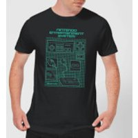 Nintendo NES Controller Blueprint T-Shirt - Black - L - Black