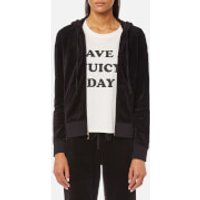 Juicy Couture Women's Track Velour Gothic Crystals Robertson Jacket - Pitch Black - M - Black
