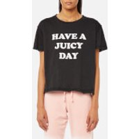 Juicy Couture Women's Juicy By Juicy Have A Juicy Day T-Shirt - Pitch Black - XS - Black