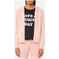 Juicy Couture Women's Track Velour Gothic Crystals Robertson Jacket - Icing - S - Pink
