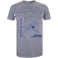 Star Wars Mens The Last Jedi X-Wing T-Shirt - Light Grey Marl - M - Grey