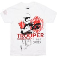 Star Wars Boys The Last Jedi Trooper Commander T-Shirt - White - 9-10 Years - White