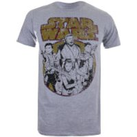 Star Wars Mens The Last Jedi Rebel Group T-Shirt - Light Grey Marl - S - Grey