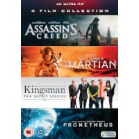 4K Ultra HD - 4 Film Collection (Assassins Creed, Kingsman, Prometheus, The Martian)