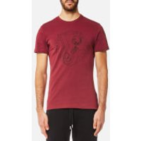 Versace Jeans Mens Circle Logo T-Shirt - Rhododendron - S - Red