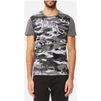 Versace Jeans Men's Tiger Camo Print T-Shirt - Grigio Medio - XL - Grey
