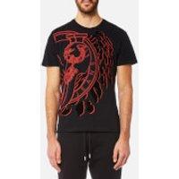 Versace Jeans Mens Large Contrast Logo T-Shirt - Nero - L - Black