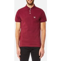 Versace Jeans Mens Small VJ Logo Polo Shirt - Rhododendron - 48/M - Red
