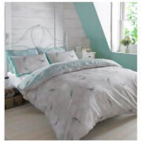 Dreamscene Vintage Birds Duvet Set - Mint - Super King - Birds Gifts
