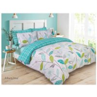 Dreamscene Allium Duvet Set - Teal/Green - Double