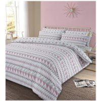 Dreamscene Rewind Duvet Set - Blush - Super King