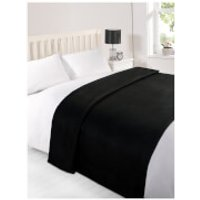 Dreamscene Soft Fleece Throw (120 x 150cm) - Black