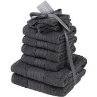 Highams 100% Cotton 10 Piece Towel Bale (500GSM) - Charcoal